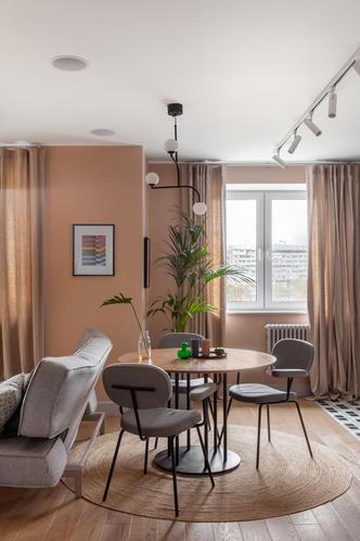 Фото №3 - Пудра и эвкалипт: квартира в Москве 69 м²