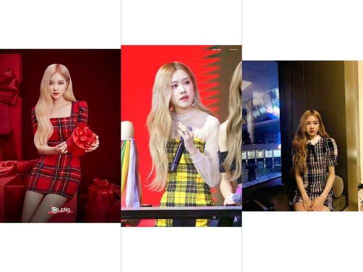Фото №5 - Как круто выглядеть в шотландке: учимся у Розэ из BLACKPINK носить вещи в клетку