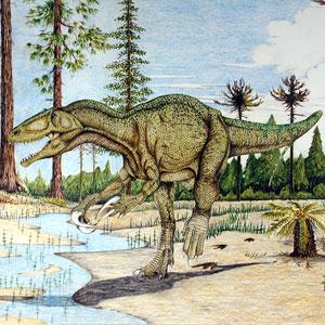 Фото №1 - Динозавры ходили в гости