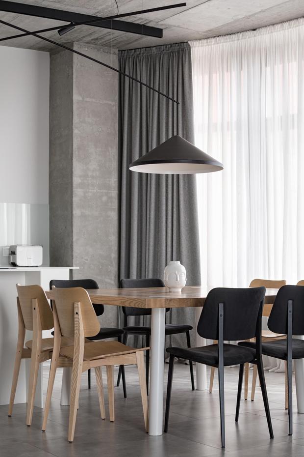 Фото №7 - Бетон + яркие акценты: квартира 166 м² в Кривом Роге