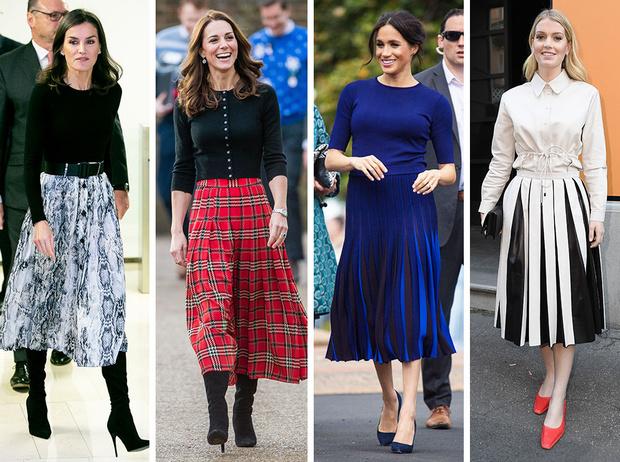 Фото №1 - Вечная классика: как королевские особы носят плиссированные юбки