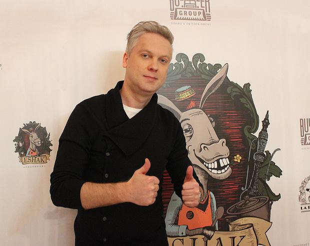 Сергей Светлаков на открытии своего ресторана в Екатеринбурге, фото