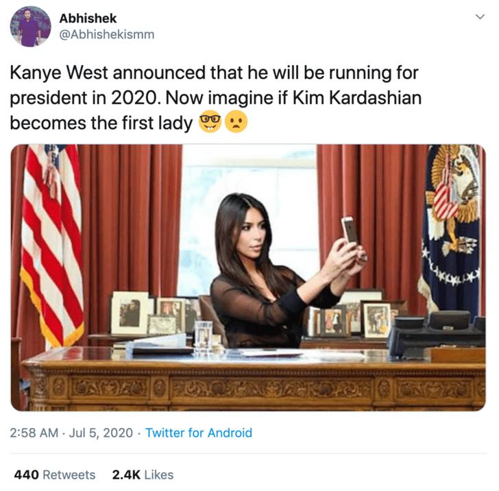 Фото №4 - В соцсетях представляют, как будет выглядеть Белый дом во время президентства Канье Уэста (галерея)