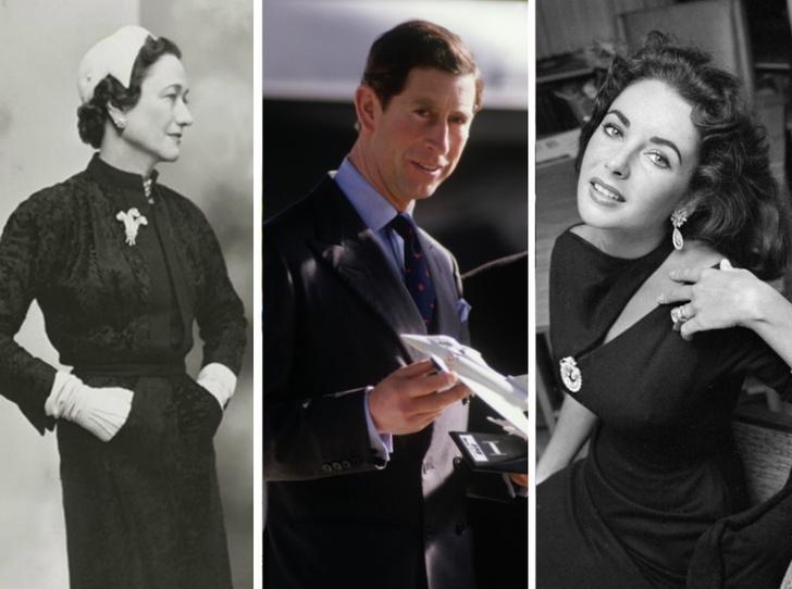 Фото №1 - Брошь Уоллис Симпсон: украшение, за которое боролись принц Чарльз и Элизабет Тейлор