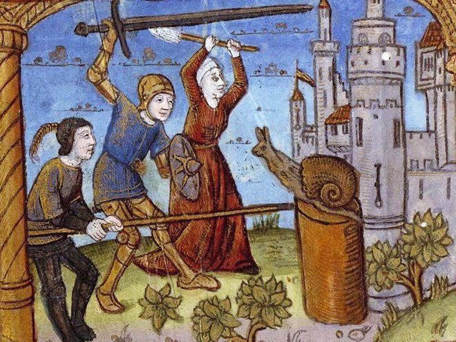 Фото №1 - Почему на средневековых рисунках так много рыцарей, сражающихся с улитками