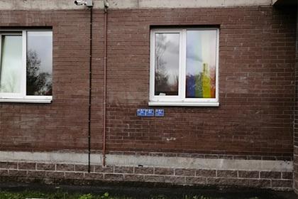 фото той самой занавески, размещенное «Вконтакте» «ЖК Кантемировский, ЖК Калина Парк, ЖК Калейдоскоп»
