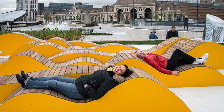 Фото №2 - На Павелецкой площади открылся ландшафтный парк