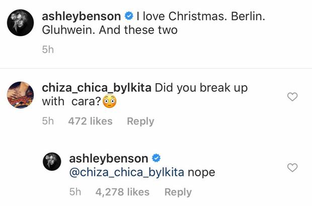 Фото №2 - Кара Делевинь разместила твит о расставании с Эшли Бенсон, а затем удалила его