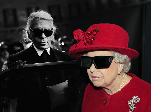 Фото №1 - Без церемоний: как Карл Лагерфельд провоцирует британских монархов