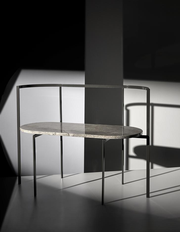 Фото №10 - Коллекция мебели Ego из мрамора и металла