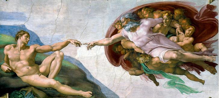 Фото №1 - 9 символов, зашифрованных в «Сотворении Адама»