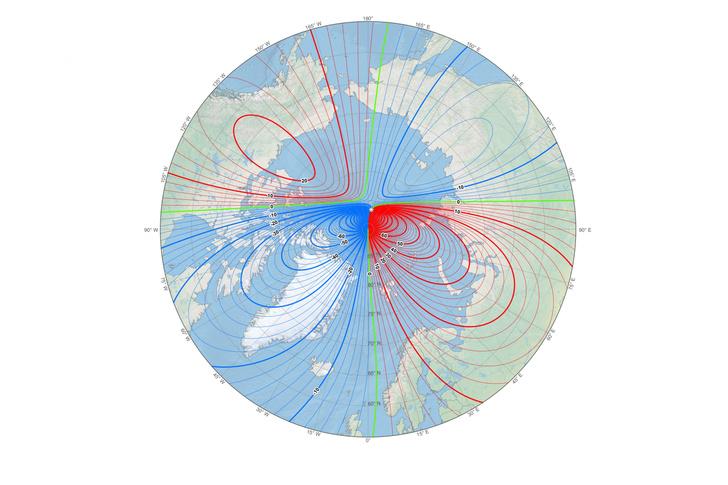 Фото №1 - Северный магнитный полюс Земли «убегает» в Сибирь