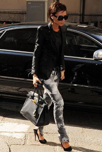 Виктория Бекхем с Hermès Birkin.