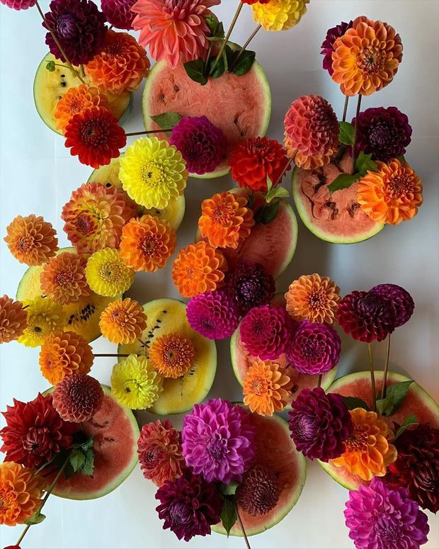 Фото №1 - Осенние букеты из георгинов: лучшее в Instagram