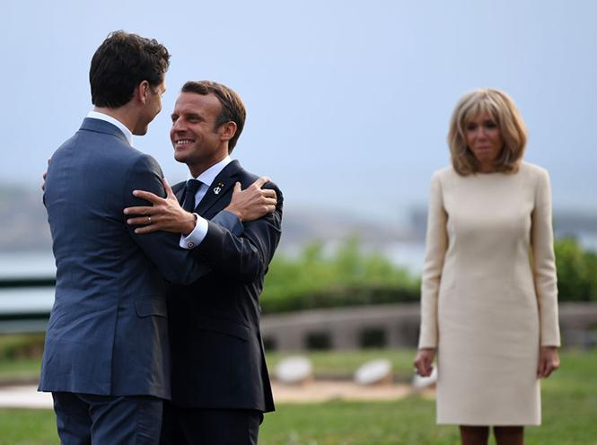 Фото №2 - Как чета Макрон встретила мировых лидеров на саммите G7
