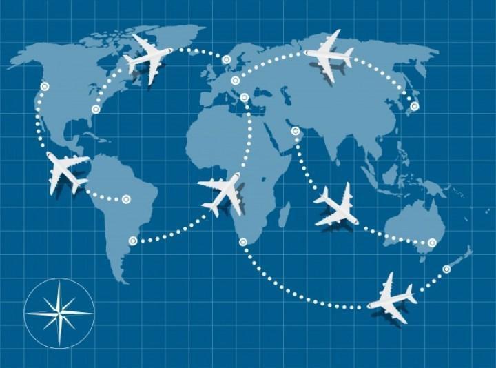 Фото №1 - Карта, объясняющая, почему самолеты не летают прямо