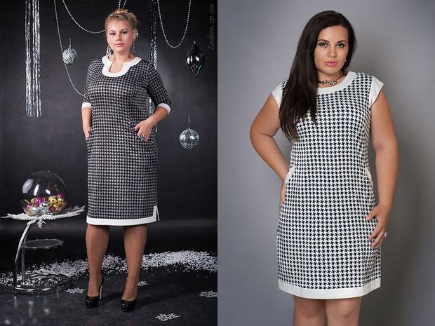 3c9fb132c5f Какие фасоны платьев в клетку для полных женщин — www.wday.ru