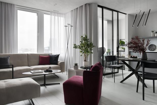 Фото №1 - Московская квартира 56 м² в серых тонах