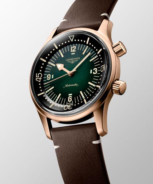 Фото №2 - Часы The Longines Legend Diver теперь доступны в бронзовом цвете