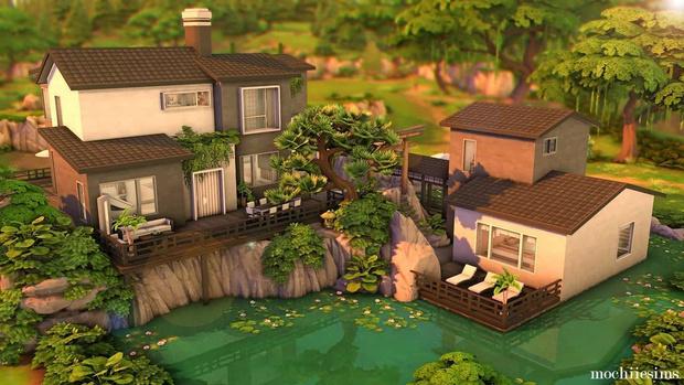 Фото №85 - 35 уютных домиков для «Симс 4», в которых ты сама захочешь поселиться