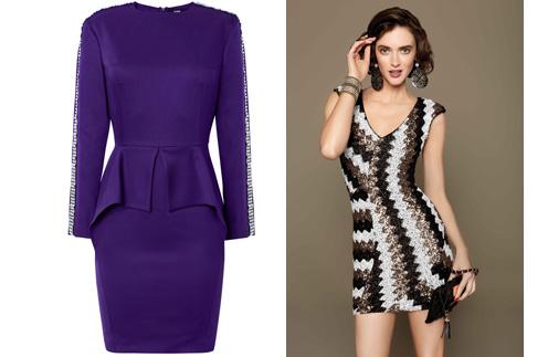 Цена платьев дизайна Кати Добряковой во время распродаж составляет 10000-12000 рублей, а коктейльные наряды Bebe можно приобрести в два раза дешевле от из первоначальной цены
