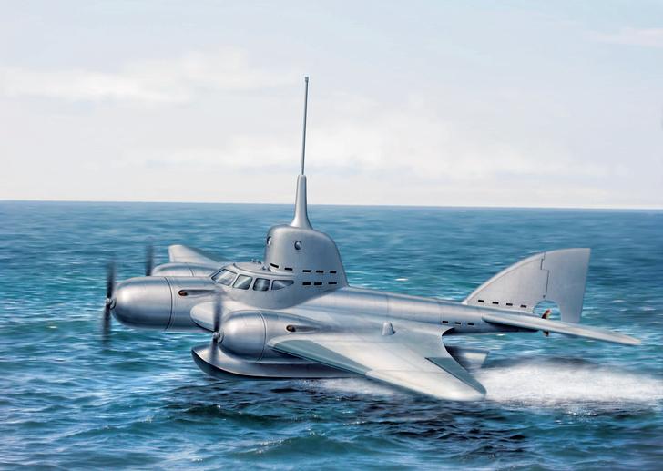 Фото №1 - 20 000 лье над водой: история летающей подводной лодки
