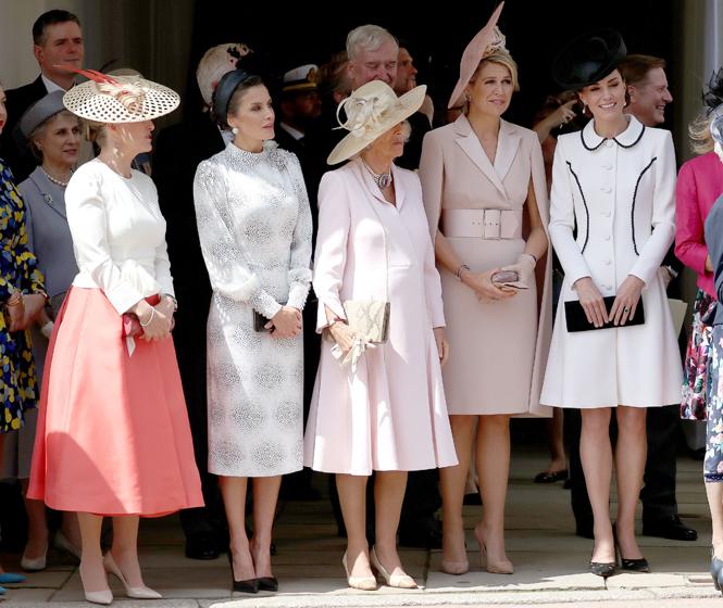 Фото №2 - Герцогиня Кейт повторила образ Дианы на церемонии Ордена Подвязки