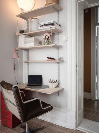 Фото №11 - Уютная скандинавская квартира с микро-спальней в Гетеборге