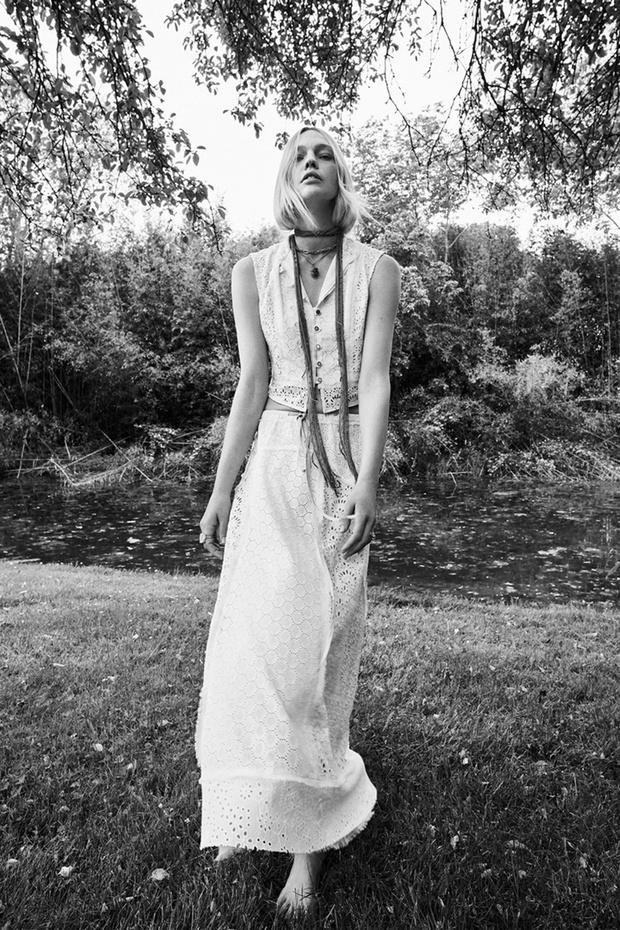 Фото №7 - Российская супермодель Саша Пивоварова в чарующей белоснежной рекламной кампании Zara