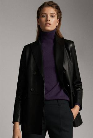 Фото №16 - Босс не будет против: как носить кожаные вещи в офис
