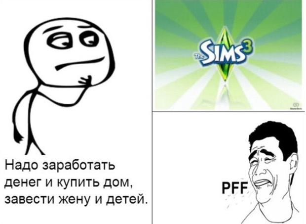 Фото №9 - 25 жизненных и очень смешных мемов по The Sims