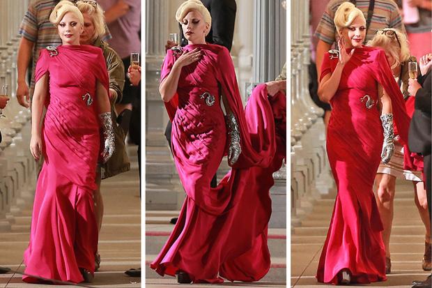 Леди Гага на съемках «АИУ»