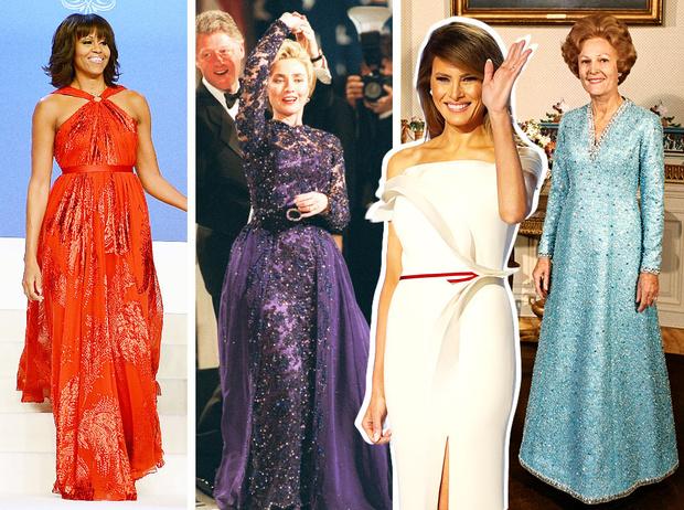 Фото №1 - Королевы Белого дома: самые роскошные инаугурационные платья Первых леди