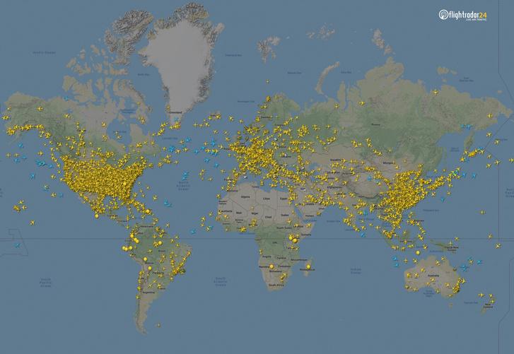 Фото №1 - Как изменился авиатрафик в разных регионах мира во время пандемии
