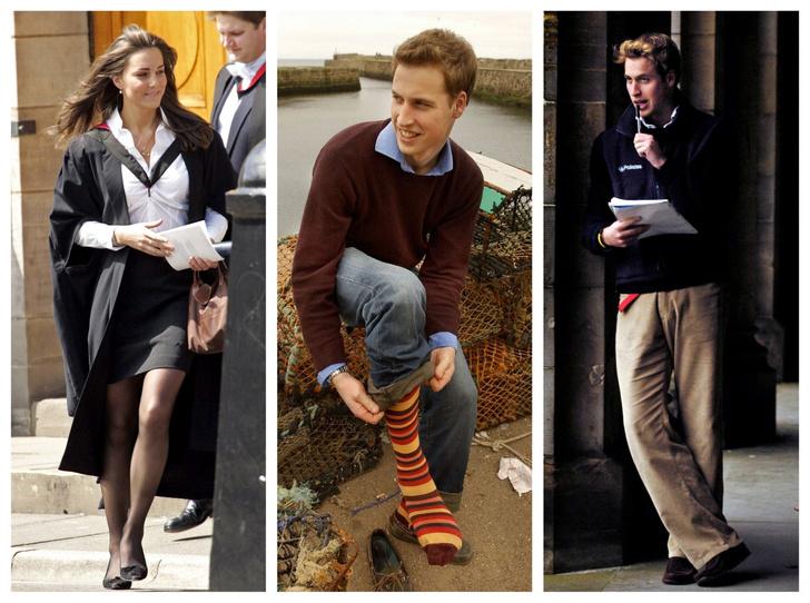 Фото №1 - Такими мы их не видели: 14 редких университетских фото Кейт и Уильяма