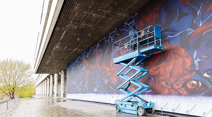 Мурал художника Саши Купаляна откроется на набережной парка «Музеон»