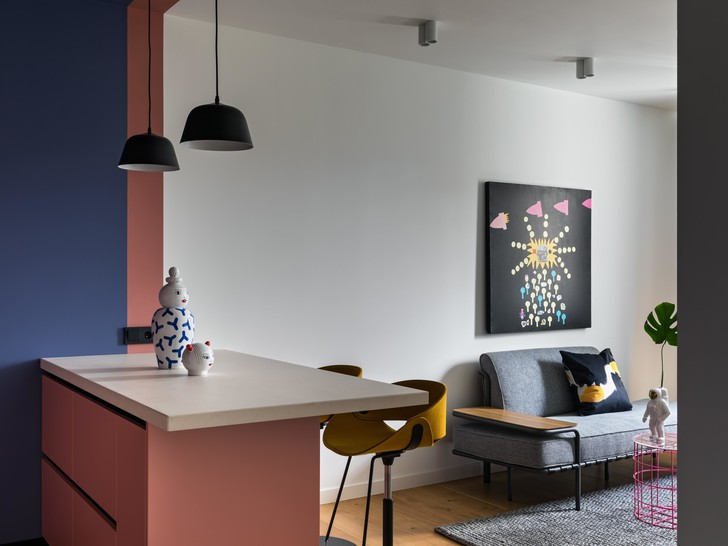 Фото №2 - Яркая квартира 47 м² для молодой девушки в Минске
