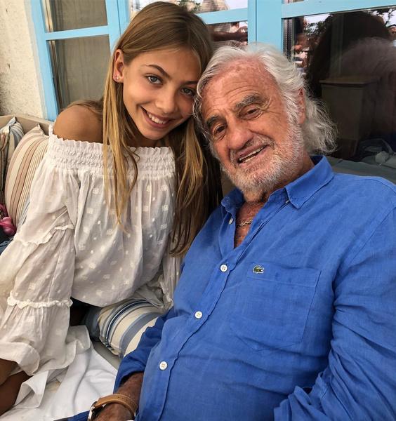 Жан-Поль Бельмондо с дочерью Стеллой