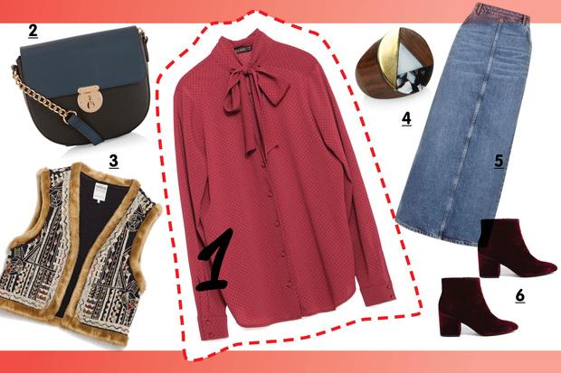 Фото №5 - С чем носить блузку с бантом