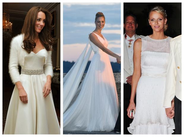Фото №1 - После венчания: вторые свадебные платья королевских невест