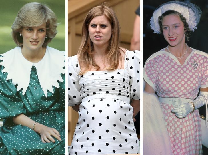 Фото №1 - Полька-дот: как королевские особы носят трендовый «горох»