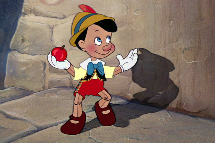 Кадр из мультфильма «Пиноккио»