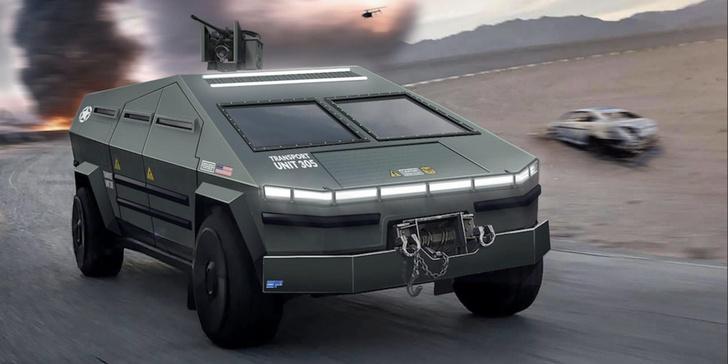 Фото №1 - Концепт недели: военная версия Tesla Cybertruck