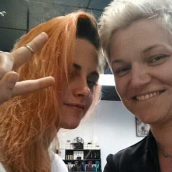 Кристен Стюарт с рыжими волосами