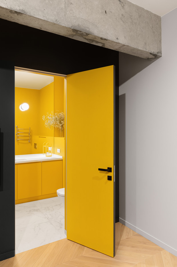 Фото №10 - Color Blocking: яркая квартира 63 м² в сталинке