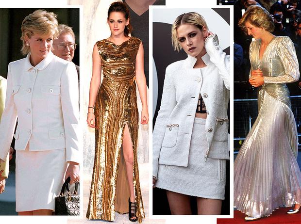 Фото №1 - Принцесса и актриса: 7 общих модных привычек Кристен Стюарт и Дианы