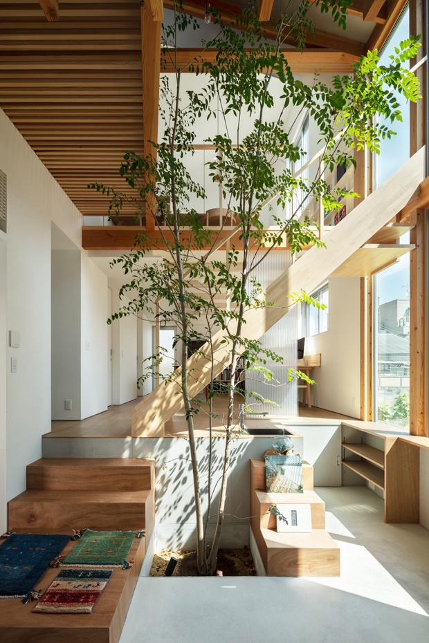 Фото №8 - Современный дом с атриумом в Японии