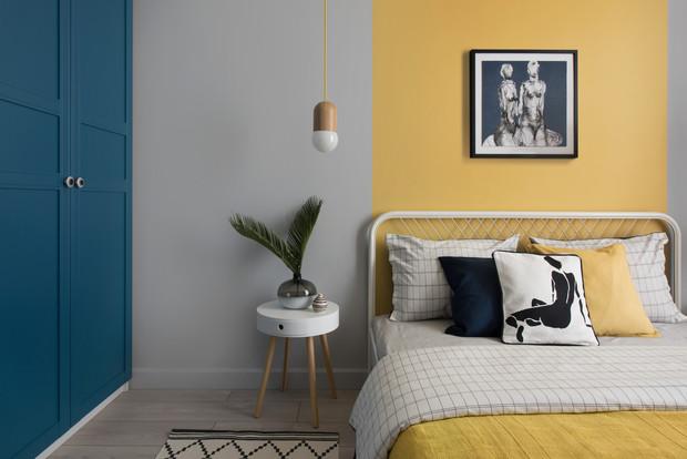Фото №9 - Цветные сны: Color Blocking в спальне