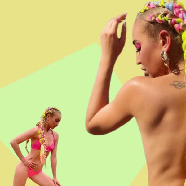 Фото №1 - Неоновые пряди и кислотно розовый купальник— Ольга Бузова учит, как даже на пляже быть самой яркой