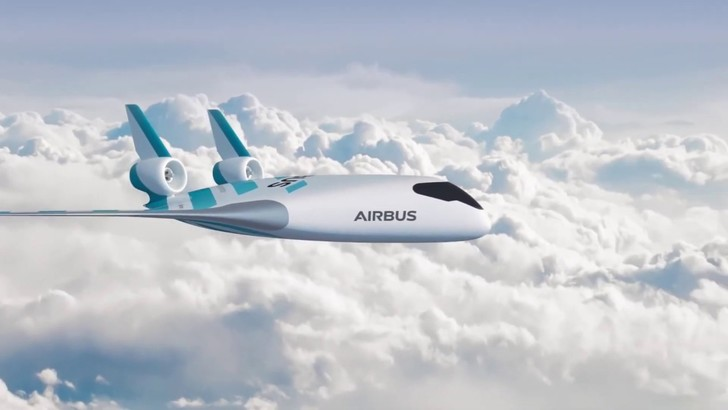 Фото №1 - AirBus представил новый самолет-монокрыло. Получить место у окна будет проблематично